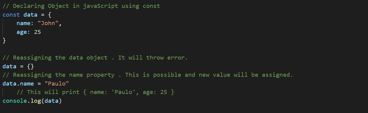 What does const stand for in ES6? – Code Scrap